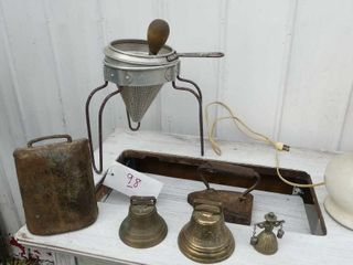 4 Bells  Iron  and Colander