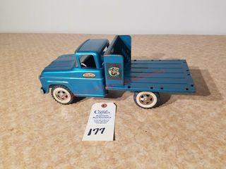 Tonka Farms blue green stake truck
