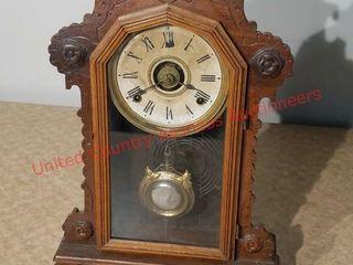 Ingraham Walnut Ornate Kitchen Clock