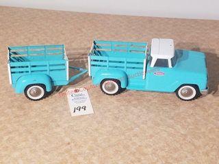 Tonka turquoise blue stake truck