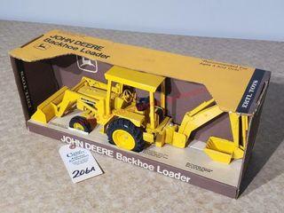 Ertl John Deere yellow backhoe loader