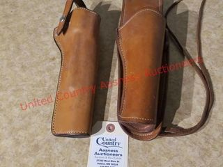 2 quality leather revolver holsters