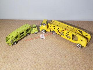 Tonka yellow car transport
