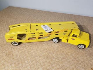 Tonka yellow car hauler