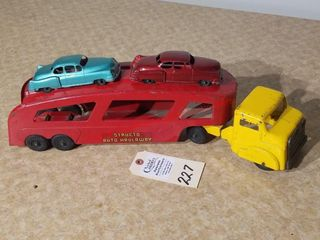 Structo auto hauler with 2 cars