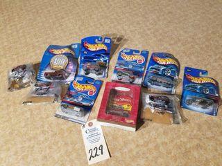 9 Mattel Hot Wheels