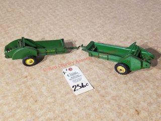 2 Vintage JD Tractor Spreaders