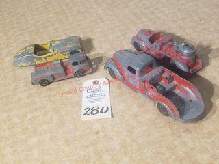 4  Hubley Kiddie toy vintage trucks   cars