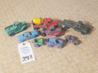 Collection of 8 vintage Tootsie Toys