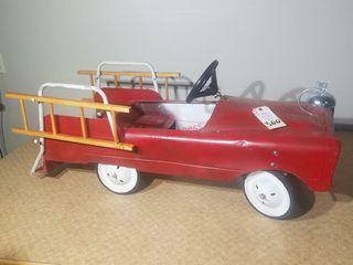 Vintage Pedal Car Fire Truck