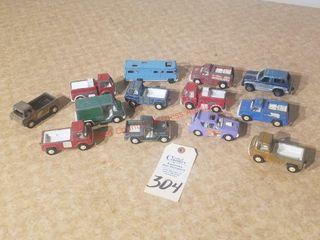 Flat of 13 1970IJs Tootsie Toys