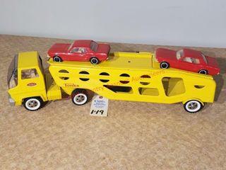 Tonka yellow car carrier