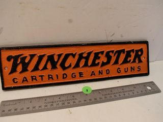 Cast Iron Winchester Sign 3