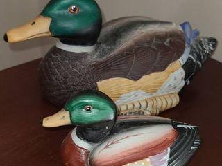 2 Ceramic Ducks
