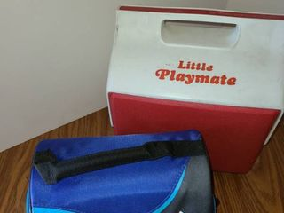 little Playmate Cooler and a lunch Box