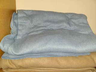 Blankets  2  Brown one is an electric blanket  The Blue is 90 x 90