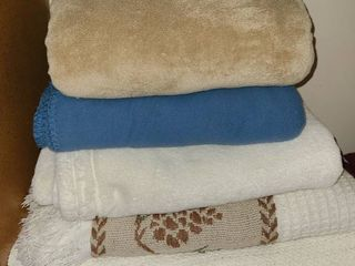 Blanket twin  and 4 Throws