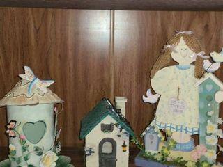 2 Bird Houses and a Gardening Girl