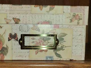 4 Decorative Boxes  4 5 x 7 5 x 11 5