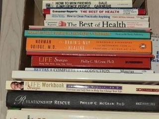 Assorted Books  Home Remedies for Seniors  And a Dr  Phil life Strategies Book and Workbook