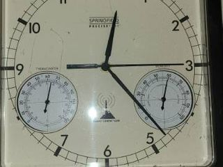 Springfield Precise Time clock  radio controlled  and Alexander Time Company  battery operated