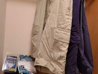 Mens Socks  Handkerchiefs  Jock Strap  3 pair Slacks size 38 x 29 and 2 Shorts size 38
