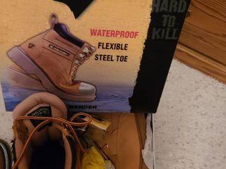 Mens Work boots  Herman SURVIVORS Flexible Steele Toe  Size 10 5