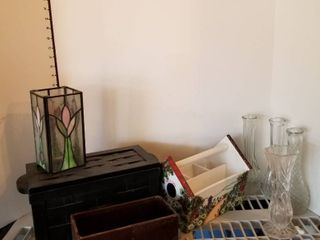 Assorted vases and baskets