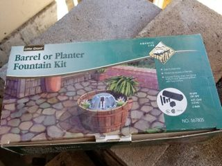 Barrel or planter fountain kit  missing pump and attachments
