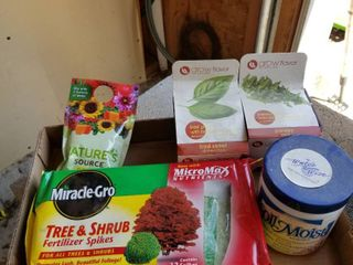 Miracle Gro tree fertilizer spikes  plant food and 2 grow flavor herbs