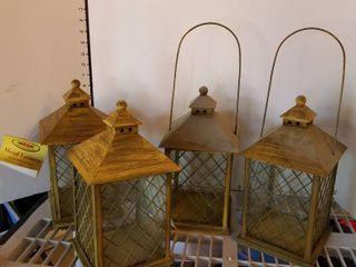 Assorted lanterns set of 4