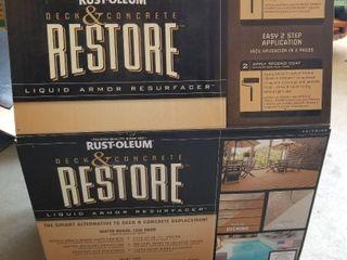 Rust Oleum deck and concrete restore  unopened