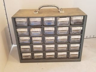 25 drawer storage container w contents