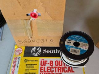 Electrical Wire  UF B OUTDOOR Wire with ground  telephone and cable wire too