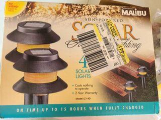 MAlIBU Solar lights  Box of 4 NEW