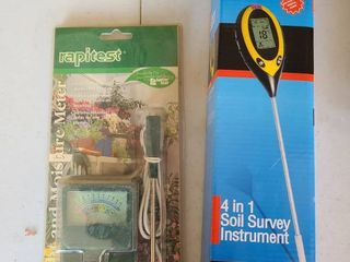 light and Moisture Meter and 4 n 1 Soil Survey Instrument