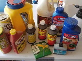 Assorted garden chemicals