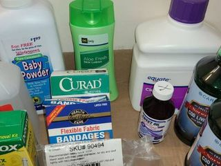 Bathroom Products  Cod liver Oil  Bandages  Alcohol  lotion  and other miscellaneous items