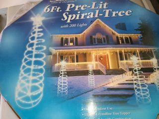 6FT  Pre lit Spiral Tree