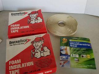 Foam insulation and weatherstrip