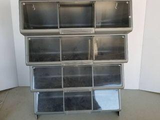 12 bin storage container