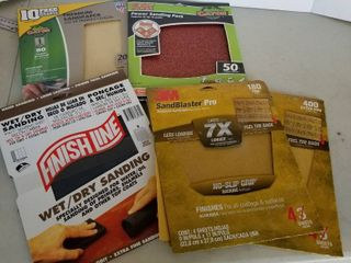 Assorted sand paper