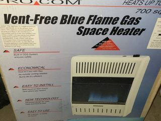 PRO COM VENT FREE BlUE FlAME GAS SPACE HEATER