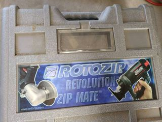 ROTOZIP Revolution Zip Mate  Comes with carrying case  and not all pieces are in the case