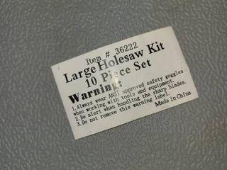 large Holesaw Kit 10 pcs