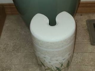 Bathroom Trash Can and Toliet Brush Holder