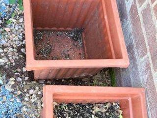 3 Plastic Square Planters 12 x 14 5 x 14 5