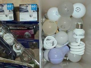 Variety of light Bulbs