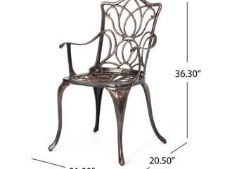 Tuscan Outdoor Cast Aluminum 2 piece Dining Chairs by Christopher Knight Home