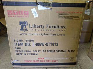 liberty Furniture Splay leg Round Cocktail   White  Slight Damage
